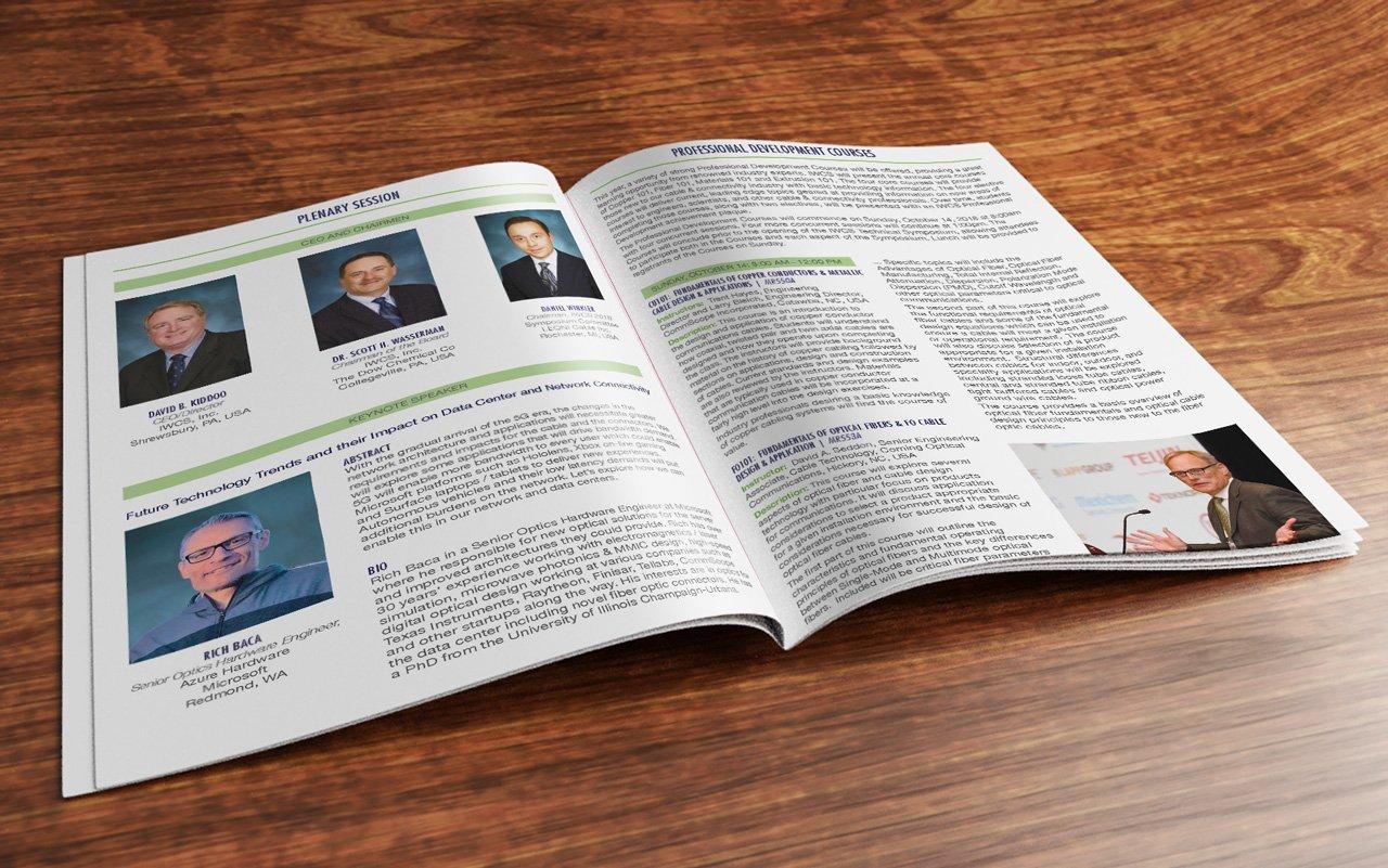 Photo of open IWCS Brochure